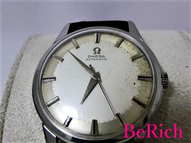 オメガ アンティーク Cal501 メンズ 腕時計 手巻き SS/レザー シルバー文字盤 OMEGA 【中古】【送料無料】 bt1332