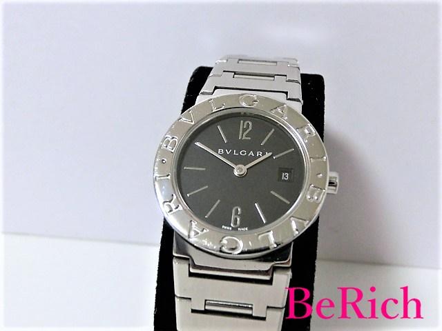 ブルガリ ブルガリブルガリ BB26SS レディース 腕時計 デイト SS クォーツ ブラック文字盤 BVLGARI 【中古】 【送料無料】 bt1342