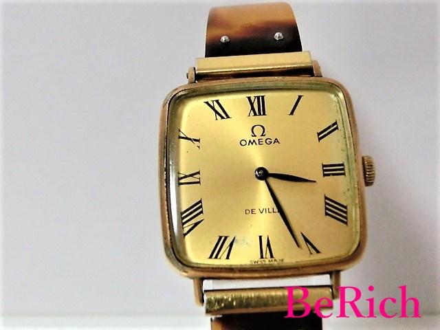 オメガ Cal625 デヴィル アンティーク レディース 腕時計 手巻き SS ゴールド文字盤 OMEGA 【中古】 bt1450