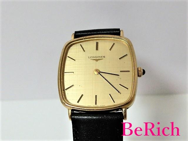 ロンジン 手巻き メンズ 腕時計 スクエア アンティーク ゴールド文字盤 LONGINES 【中古】 bt1507