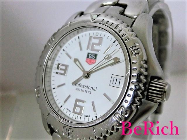 タグホイヤー リンク WT1214 メンズ 腕時計 デイト 200m防水 クォーツ QZ ホワイト文字盤 SS TAGHEUER 【中古】【送料無料】 bt1514