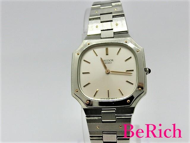 セイコー クレドール 8420-5010 レディース 腕時計 SS クォーツ QZ シルバー文字盤 SEIKO 【中古】 bt1522