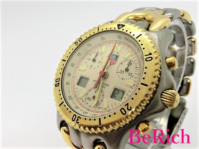 タグホイヤー セナモデル CG1123-0 クロノグラフ デイト メンズ 腕時計 クォーツ QZ 200m防水 アイボリー文字盤 SS TAGHEUER 【中古】【送料無料】 bt1526
