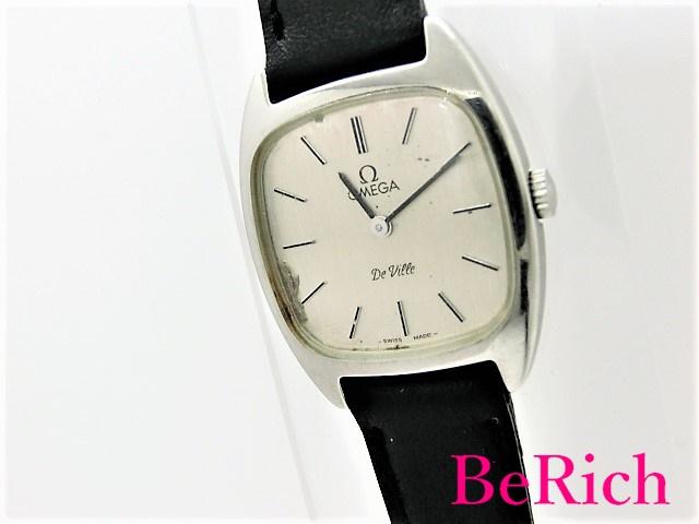 オメガ デヴィル Cal625 511.0531 レディース 腕時計 手巻き SS/レザー シルバー文字盤 OMEGA 【中古】 bt1747