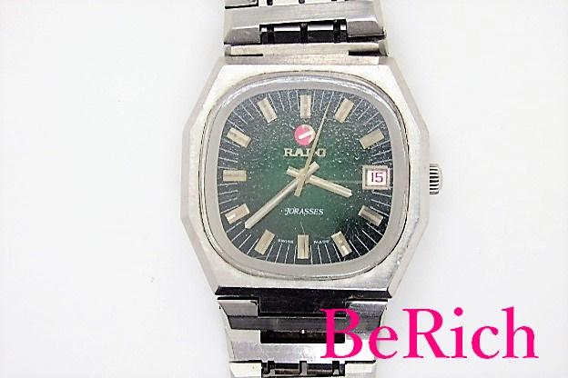 ラドー 出色 RADO ジョラス 自動巻 メンズ 腕時計 デイト グリーン 緑 文字盤 SS AT 割引 アンティーク アナログ 中古 bt1793 ブレス ウォッチ JORASSES オートマチック 送料無料