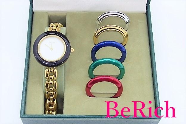 グッチ GUCCI レディース 腕時計 チェンジ ベゼル ウォッチ 11/12.2 白 ホワイト 文字盤 SS ブレス クォーツ QZ 着せ 替え 【送料無料】 bt1850:BeRich 支店