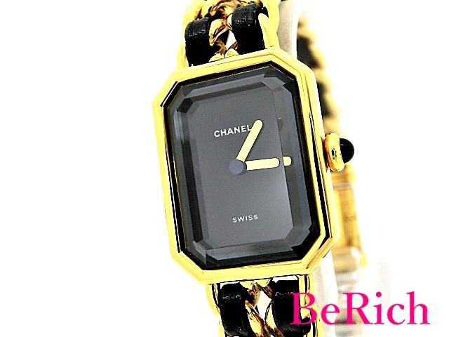 美品 シャネル プルミエールXL H0001 QZ クォーツ レディース 腕時計 GP/レザー CHANEL 【中古】【送料無料】 bt1889