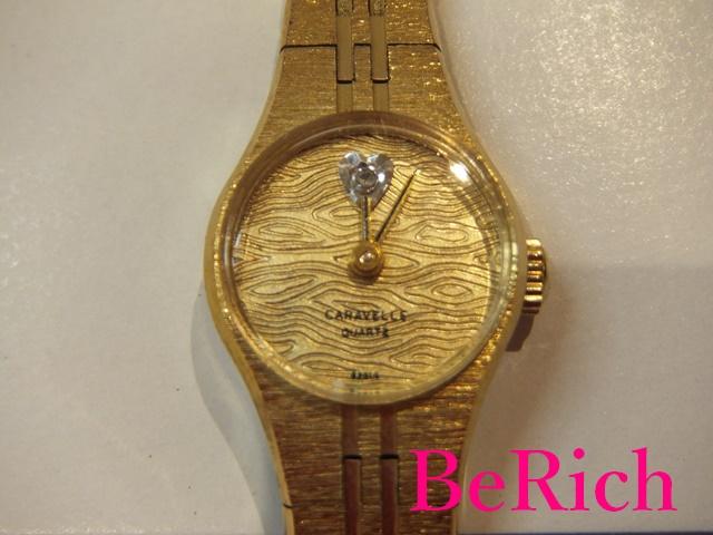 ブローバ BULOVA キャラベル CARAVELLE レディース 腕時計 P2 ゴールド 文字盤 SS アナログ クォーツ ヴィンテージ アンティーク ウォッチ 【中古】【送料無料】 ht1988