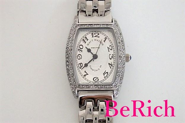 マビー メイゾン Mavy Maison レディース 腕時計 ダイヤモンド 96 トノー 型 シルバー 文字盤 SS ブレス アナログ クォーツ QZ ドレス ウォッチ 【中古】【送料無料】 ht2690