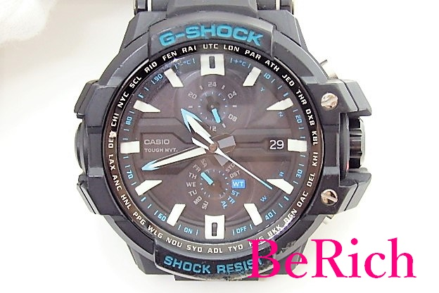 カシオ CASIO G-SHOCK メンズ 腕時計 GW-A1000A ソーラー 黒 ブラック 文字盤 樹脂 ブレス クォーツ QZ ウォッチ 【中古】ht2343