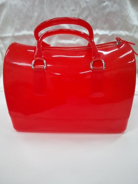 941a29fed71c フルラ FURLA ハンドバッグ キャンディバッグ オレンジ 濃橙 ビニール ラバー ロゴ ミニ ボストンバッグ ショルダーバッグ 手提げ バッグ 鞄  メンズ レディース ...