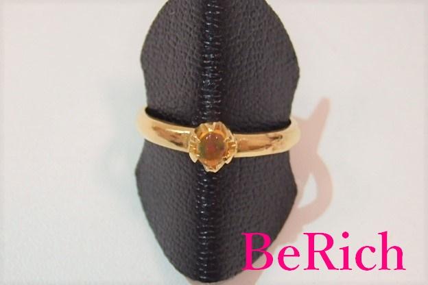 K18 メキシコ オパール デザイン リング 指輪 16号 18金 750 YG イエロー ゴールド 色石 宝石 ジュエリー アクセサリー ファッション 小物 プレゼント ギフト 婦人 レディース  【中古】th383