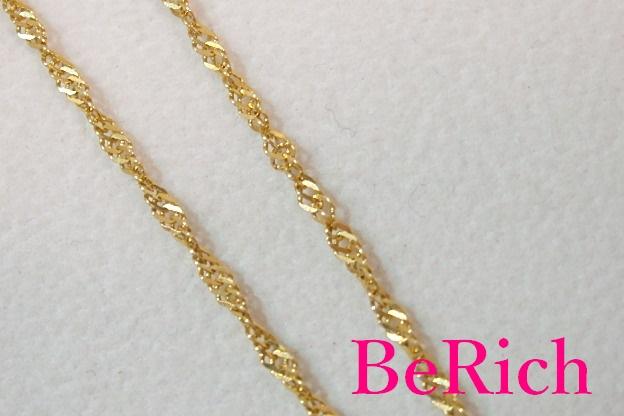 K18 YG スクリュー チェーン 40cm ネックレス ペンダント 18金 750 イエロー ゴールド ジュエリー アクセサリー ファッション 小物 婦人 レディース送料無料 th1299f6yY7gb