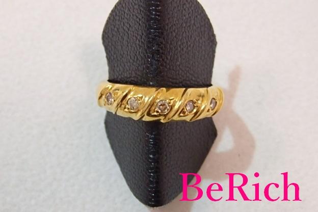 ジュエリーマキ K18 YG ダイヤモンド 0.15ct デザイン リング 指輪 13号 18金 750 イエロー ゴールド メレ ダイヤ 宝石 ジュエリー アクセサリー ファッション 小物 メンズ レディース 【中古】 th1307