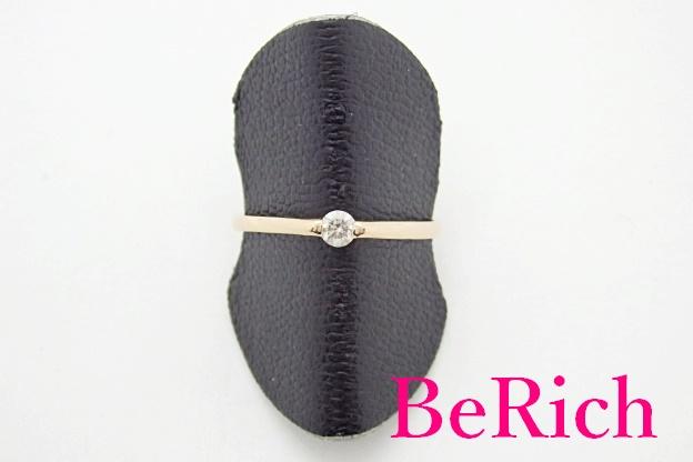 K18 PG ダイヤモンド 0.10ct デザイン リング 指輪 12号 18金 750 メレ 宝石 ジュエリー アクセサリー 【中古】【送料無料】th3582