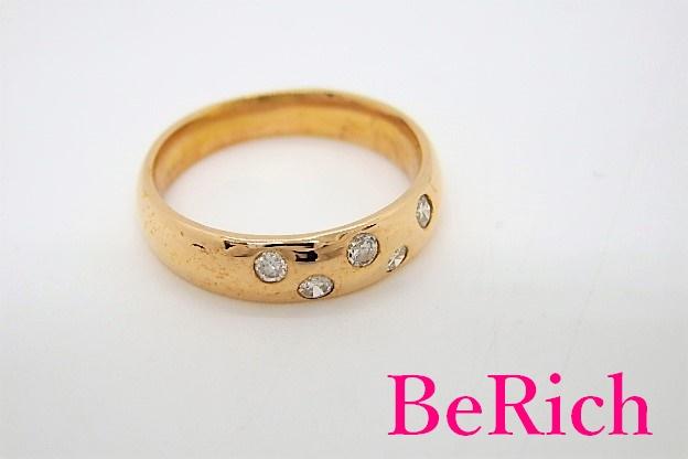 K18 PG ダイヤモンド 0.13ct デザイン リング 指輪 4号 18金 750 メレ 宝石 ジュエリー アクセサリー 【中古】【送料無料】th3596