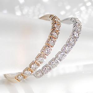 K10PG/WG/YG 天然ダイヤ0.20ctエタニティリングレディース 指輪 リング ピンクゴールド イエローゴールド ホワイトゴールド ダイヤモンド エタニティ ピンキー ダイア K10 細身 送料無料 品質保証書 プレゼント 代引手数料無料