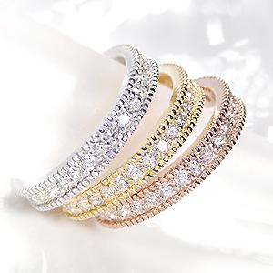 ファッション・ジュエリー・アクセサリー・レディース・指輪・リング・ゴールド・ピンク・ホワイト・イエロー・ダイアモンド・エタニティ・ピンキー・K18・フルエタ・4月・誕生石・送料無料・品質保証書・プレゼント・代引手数料無料・ラッピング無料