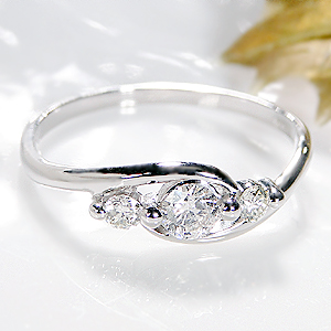 ファッション・ジュエリー・アクセサリー・レディース・指輪・リング・プラチナ・Pt900・ダイヤモンド・ダイアモンド・ダイヤ・4月・誕生石・送料無料・品質保証書・ ギフト・プレゼント・代引手数料無料・新商品・ラッピング無料・0.3ct・ウエーブ