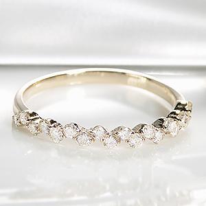ファッション・ジュエリー・アクセサリー・レディース・指輪・リング・10金・ゴールド・イエローゴールド・ダイヤモンド・エタニティ・ダイア・K10・細身・送料無料・品質保証書・プレゼント・代引手数料無料・ラッピング無料