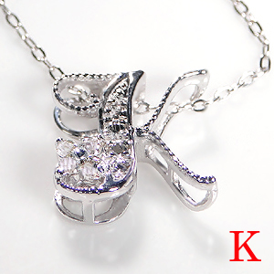 ☆K10WG ダイヤモンド イニシャル ネックレス☆ダイヤモンドネックレス ダイヤ ペンダント ホワイトゴールド ダイヤモンド ダイア K10 10k 10K アルファベット 人気 かわいい 送料無料 品質保証書 代引手数料無料 ラッピング無料