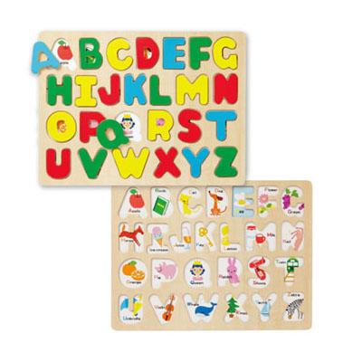 【あす楽】【メール便】【木製 知育パズル ABC パズル】【\500クーポン】知育玩具 3歳[メール便は2枚まで発送可]アルファベット 学習 パズル おもちゃ1/24更新♪