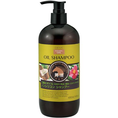 熊野油脂 ディブ 3種のオイル シャンプー (馬油・椿油・ココナッツオイル) 本体 480ml 20本セット 【ケース販売】