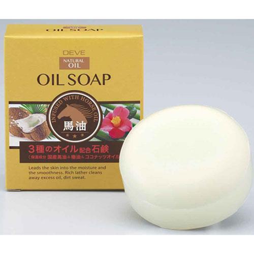 熊野油脂 ディブ 3種のオイル せっけん (馬油・椿油・ココナッツオイル) 100g 60個セット 【ケース販売】