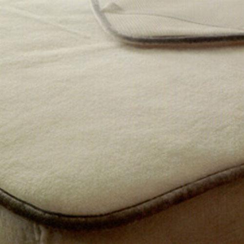 京都西川 ローズメリノ 洗えるウール敷きパッド シングルサイズ (100×205cm) WPO5100 日本製