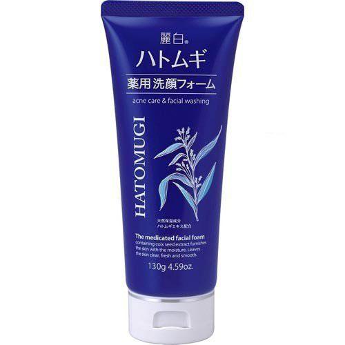 熊野油脂 麗白 ハトムギ 薬用 洗顔フォーム 130g 48本セット 【ケース販売】