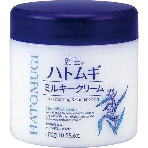 熊野油脂 麗白 ハトムギ ミルキークリーム 300g 30本セット 【ケース販売】