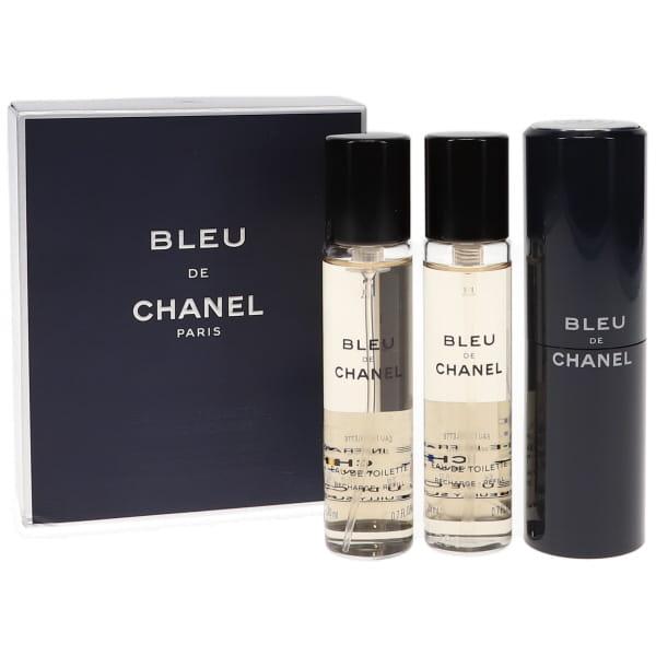 シャネル ブルー ドゥ シャネル トラベル EDT オードトワレ 20ml×3 (本体1本、リフィル2本) (香水) CHANEL