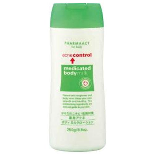 熊野油脂 ファーマアクト 薬用アクネ ボディミルクローション 250g 32本セット 【ケース販売】