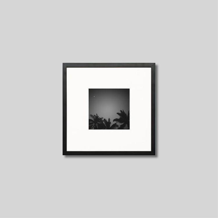 ウッド黒フレーム 正方形Sサイズ インテリア アート フォト プロ作品 デザイナー デザイン フォトグラフ 豊かなおうち時間 男前インテリア モダン スタイリッシュ ニューカレドニア ピクチャーアート インテリアフォト 写真 いよいよ人気ブランド グランドテール島のヤシの木 アイグレボウ IGREBOW モノクロ モノクローム 出群