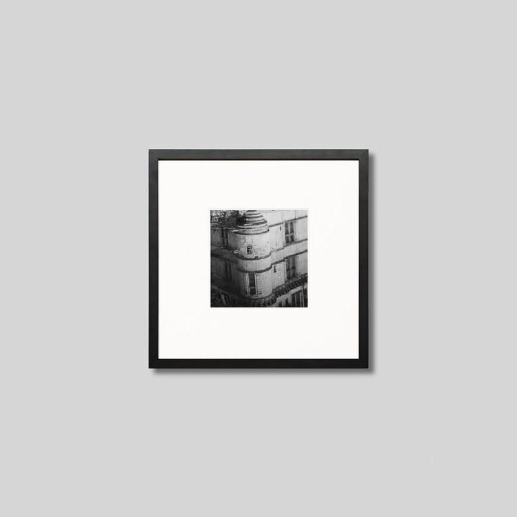 ウッド黒フレーム 正方形Sサイズ インテリア アート フォト 送料無料 激安 お買い得 キ゛フト プロ作品 デザイナー デザイン フォトグラフ 豊かなおうち時間 男前インテリア IGREBOW アイグレボウ お金を節約 フランス インテリアフォト スタイリッシュ 写真 ピクチャーアート モノクロ モダン 水面に映るアゼ モノクローム ロワールの古城 リドー城 ル