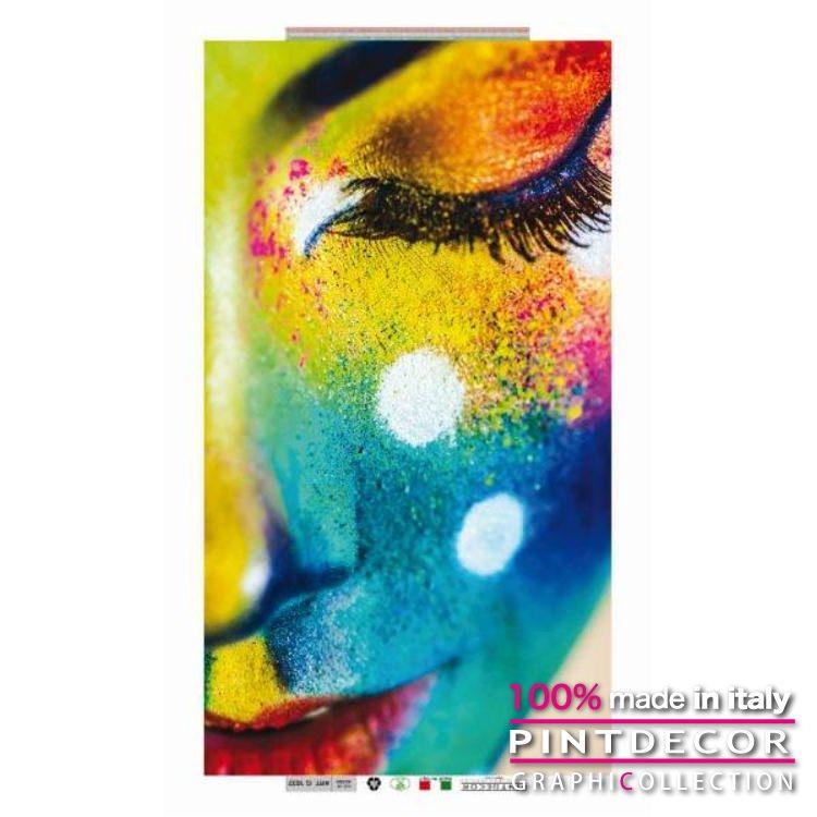 デコレーションパネル PINTDECOR グラフィコレクション WOMAN COLOR G1032|ピントデコール イタリア アートパネル ウォールデコ ペインティング 絵画 リビング インテリア デザイン モダン ホテルライク 新居 イタリア直輸入