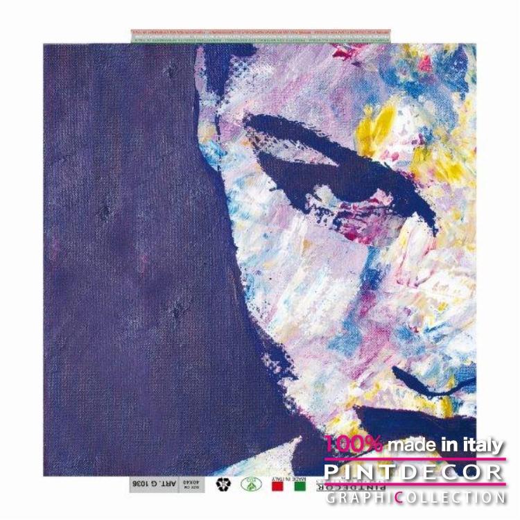 デコレーションパネル PINTDECOR グラフィコレクション SGUARDO IN BLU G1036|ピントデコール イタリア アートパネル ウォールデコ ペインティング 絵画 リビング インテリア デザイン モダン ホテルライク 新居 イタリア直輸入