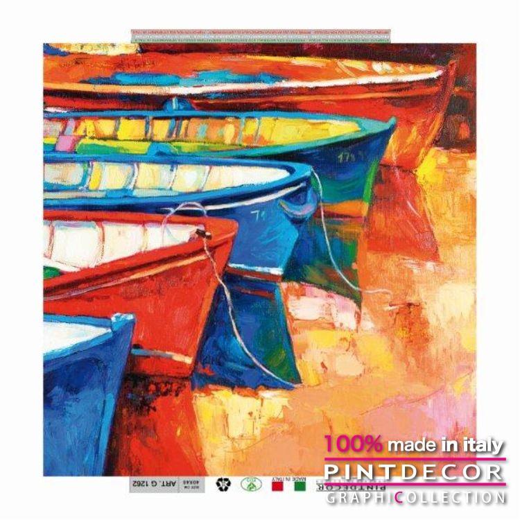 デコレーションパネル PINTDECOR グラフィコレクション BARCHE G1262|ピントデコール イタリア アートパネル ウォールデコ ペインティング 絵画 リビング インテリア デザイン モダン ホテルライク 新居 イタリア直輸入