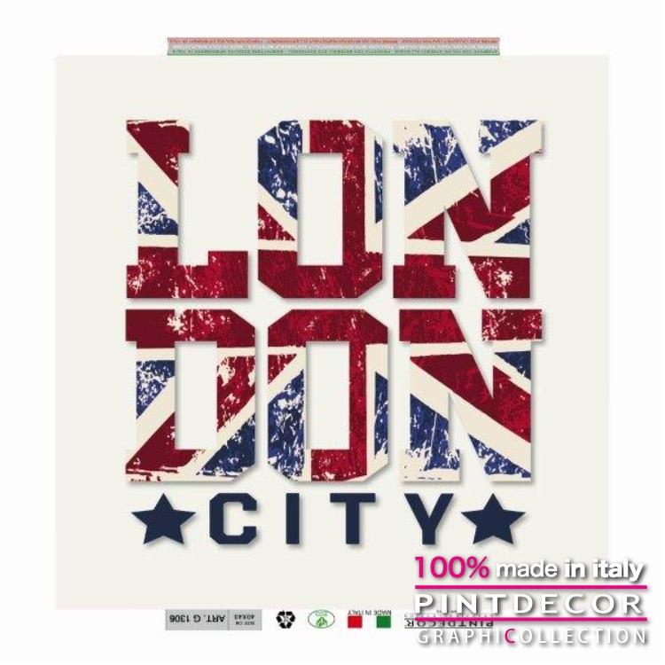 デコレーションパネル PINTDECOR グラフィコレクション LONDON CITY G1306|ピントデコール イタリア アートパネル ウォールデコ ペインティング 絵画 リビング インテリア デザイン モダン ホテルライク 新居 イタリア直輸入