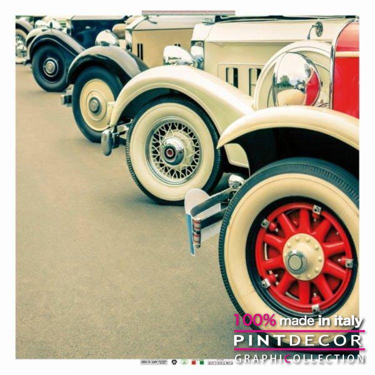 デコレーションパネル PINTDECOR グラフィコレクション OLD CAR G1332|ピントデコール イタリア アートパネル ウォールデコ ペインティング 絵画 リビング インテリア デザイン モダン ホテルライク 新居 イタリア直輸入