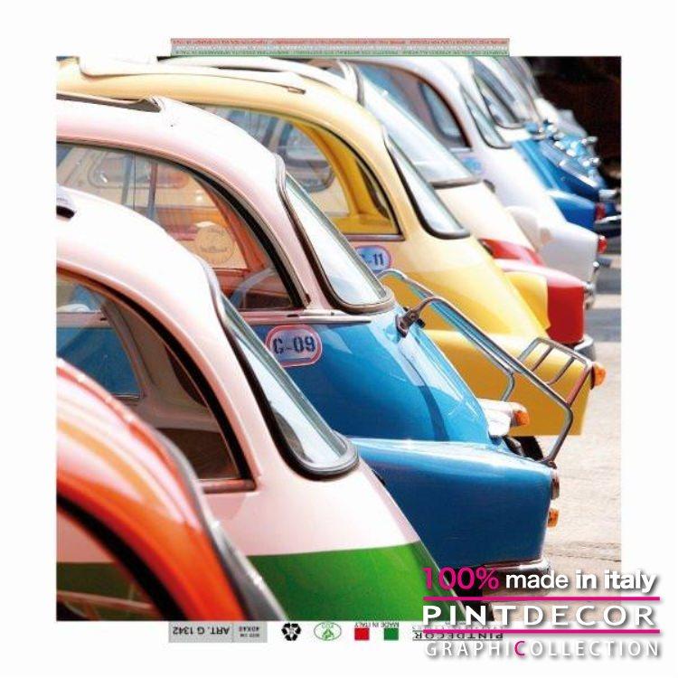 デコレーションパネル PINTDECOR グラフィコレクション VINTAGE CAR G1342|ピントデコール イタリア アートパネル ウォールデコ ペインティング 絵画 リビング インテリア デザイン モダン ホテルライク 新居 イタリア直輸入