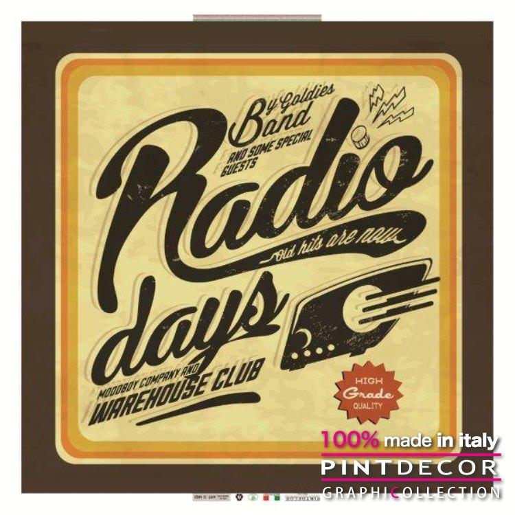デコレーションパネル PINTDECOR グラフィコレクション RADIO DAYS G1452|ピントデコール イタリア アートパネル ウォールデコ ペインティング 絵画 リビング インテリア デザイン モダン ホテルライク 新居 イタリア直輸入