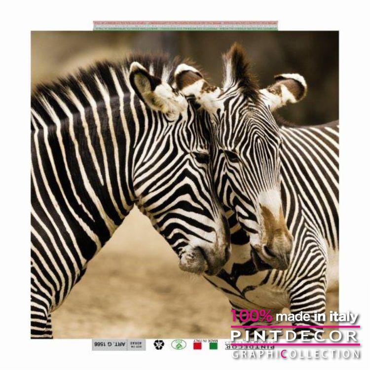 デコレーションパネル PINTDECOR グラフィコレクション ZEBRA G1566|ピントデコール イタリア アートパネル ウォールデコ ペインティング 絵画 リビング インテリア デザイン モダン ホテルライク 新居 イタリア直輸入