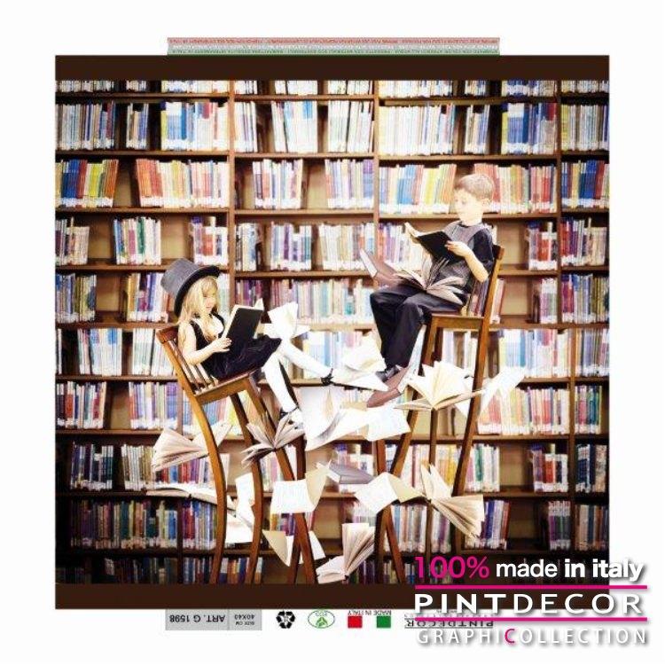 デコレーションパネル PINTDECOR グラフィコレクション IN BIBLIOTECA G1598 ピントデコール イタリア アートパネル ウォールデコ ペインティング 絵画 リビング インテリア デザイン モダン ホテルライク 新居 イタリア直輸入
