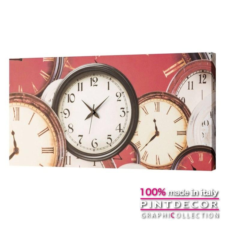 ウォールクロック PINTDECOR グラフィコレクション OLD CLOCK G1688|ピントデコール イタリア アート クロック 壁時計 リビング インテリア デザイン モダン ホテルライク 新居 イタリア直輸入