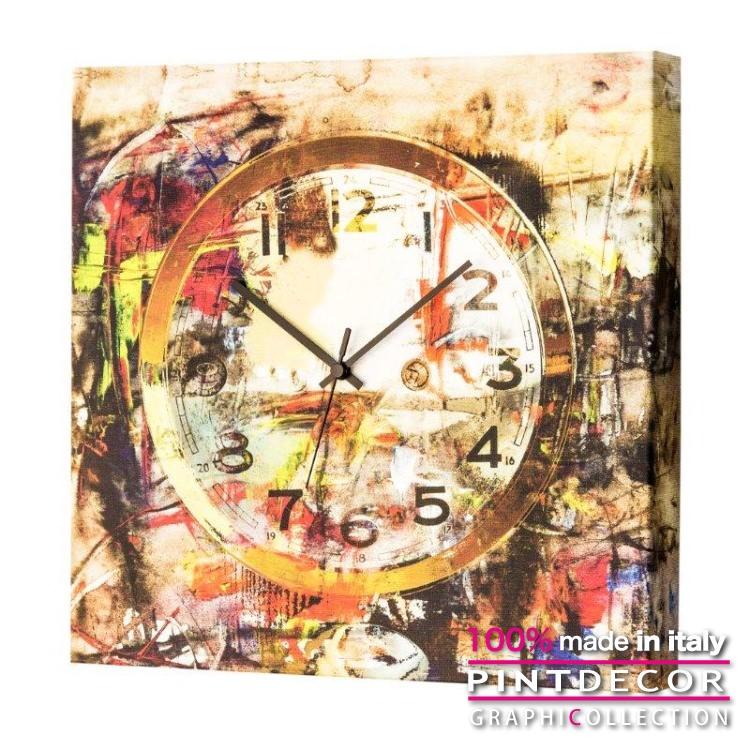 ウォールクロック PINTDECOR グラフィコレクション ART TIME G1692|ピントデコール イタリア アート クロック 壁時計 リビング インテリア デザイン モダン ホテルライク 新居 イタリア直輸入