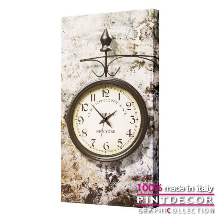 ウォールクロック PINTDECOR グラフィコレクション GRAND CENTRAL NY G1696 ピントデコール イタリア アート クロック 壁時計 リビング インテリア デザイン モダン ホテルライク 新居 イタリア直輸入
