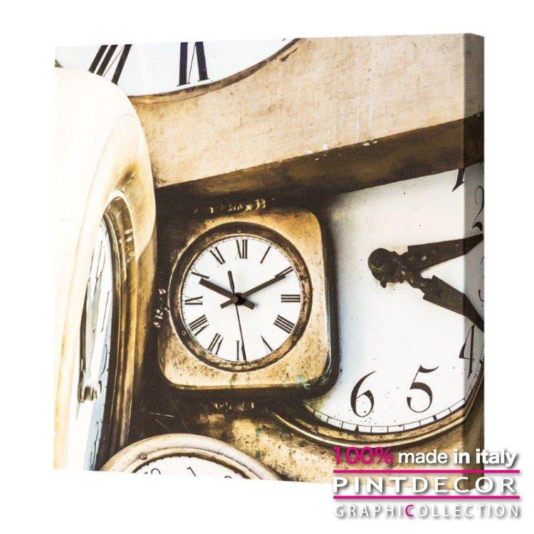 ウォールクロック PINTDECOR グラフィコレクション IN MOVIMENTO G1700|ピントデコール イタリア アート クロック 壁時計 リビング インテリア デザイン モダン ホテルライク 新居 イタリア直輸入