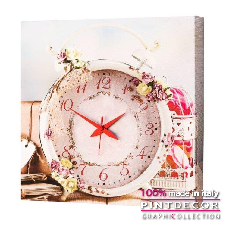 ウォールクロック PINTDECOR グラフィコレクション PINK TIME G1712|ピントデコール イタリア アート クロック 壁時計 リビング インテリア デザイン モダン ホテルライク 新居 イタリア直輸入