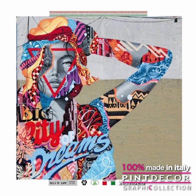 デコレーションパネル PINTDECOR グラフィコレクション CITY DREAMS G1770 ピントデコール イタリア アートパネル ウォールデコ ペインティング 絵画 リビング インテリア デザイン モダン ホテルライク 新居 イタリア直輸入